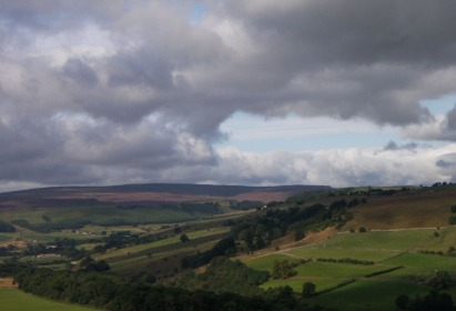 swaledale from downholme moor