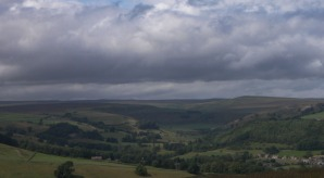 view from downholme moor