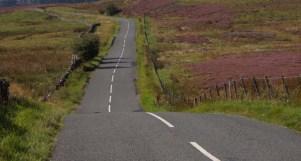 The Stang - road heading south from Scargill