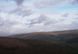fells above swaledale from buttertubs pass