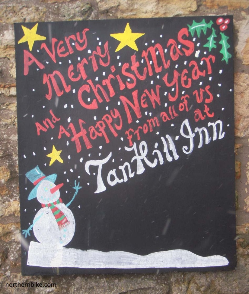 tan hill inn christmas sign