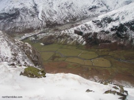 mickleden, great langdale from pike of stickle