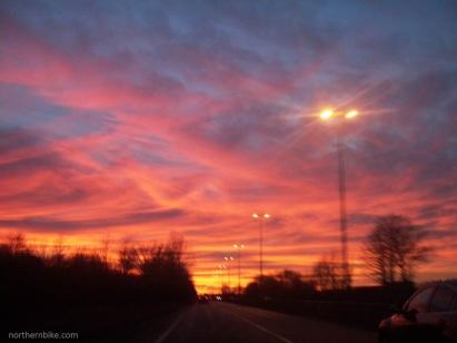 Teesside sunset - A66, Stockton on Tees, England