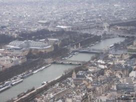 paris - tour Eiffel - la seine & place de la concorde