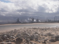 Redcar Steel Works from South Gare