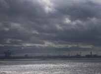 View across the Tees Estuary from South Gare