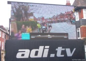 York - tour de Yorkshire - very big telly