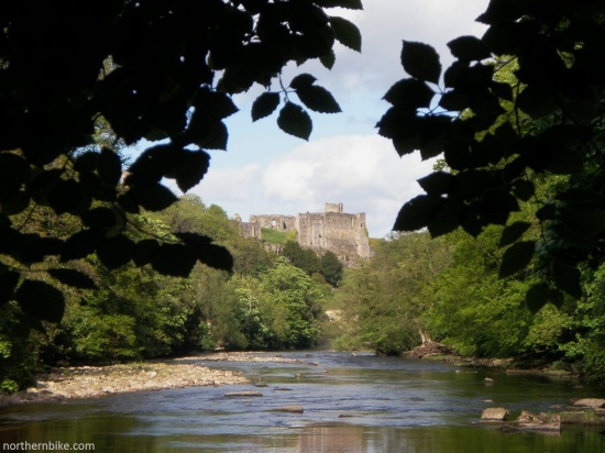 Richmond Castle & River Swale from Billy Bank Wood, Richmond, Yorkshire