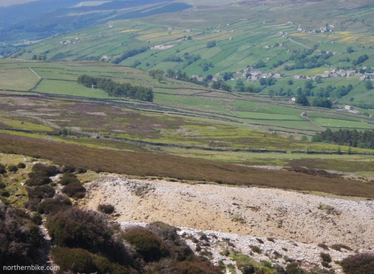 Swaledale from Harkerside Moor lead workings