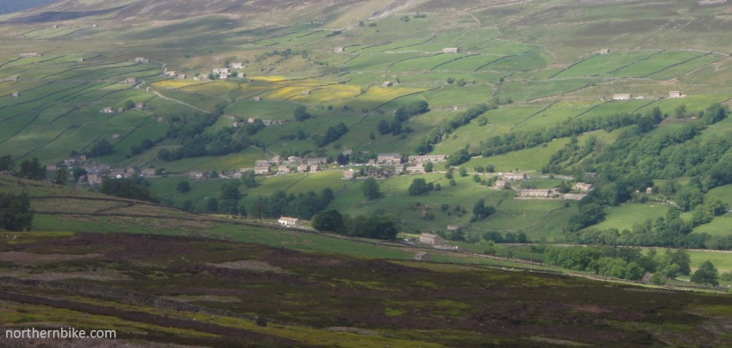 Low Row, Swaledale from Harkerside Moor