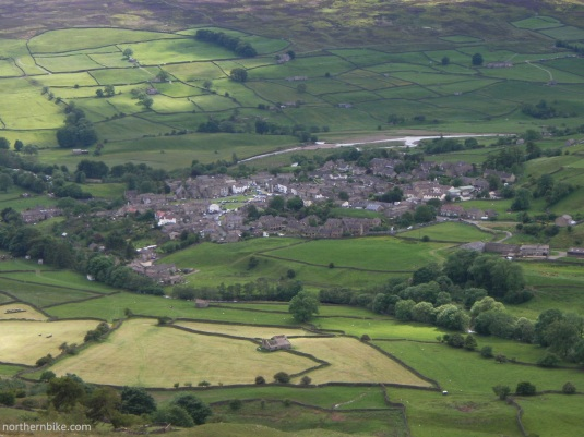 Reeth in Swaledale from Fremington Edge