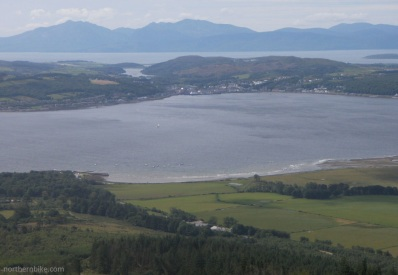 The Isles of Bute and Arran from Buachailean,Toward