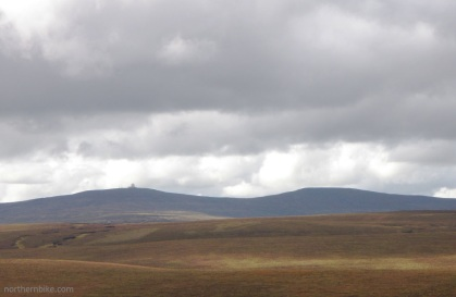 Great Dun Fell (with the radar on top) from the Teesdale to Alston road