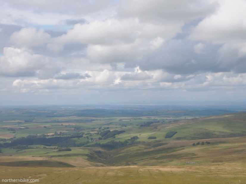 looking towards the Solway Firth from Hartside Fell