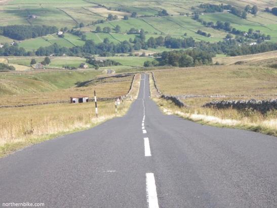 road up Chapel Fell from Weardale
