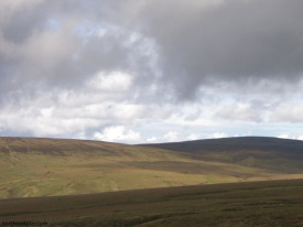 view from Chapel Fell, descending the Teesdale side