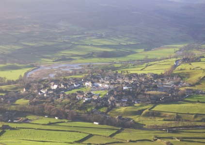 Reeth, Swaledale, Yorkshire from Fremington Edge