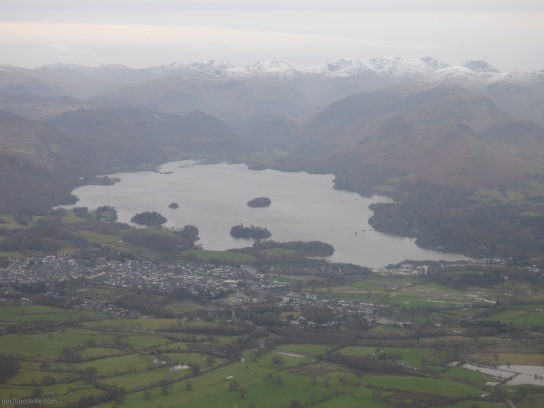 Keswick and Derwent Water from Skiddaw