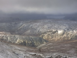 view from above Grisedale Tarn