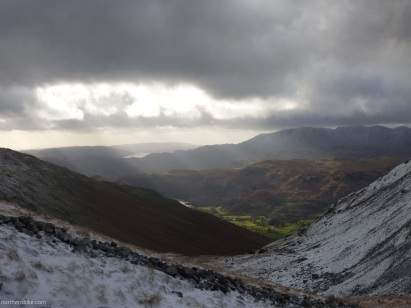 looking towards Coniston Water from Grisedale Tarn