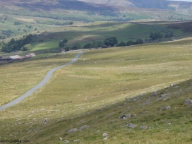 The road between Askrigg and Reeth over The Fleak, Swaledale