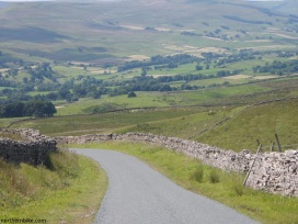 The road between Askrigg and Reeth over The Fleak, Wensleydale